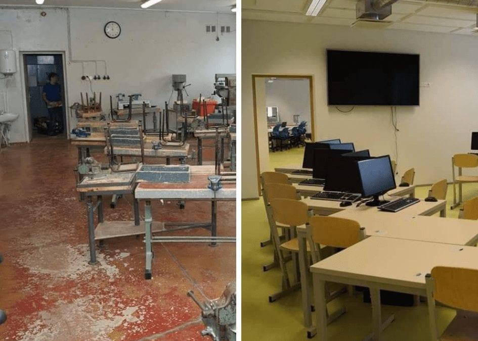Totaalne muutumine: koolimaja enne ja pärast renoveerimist